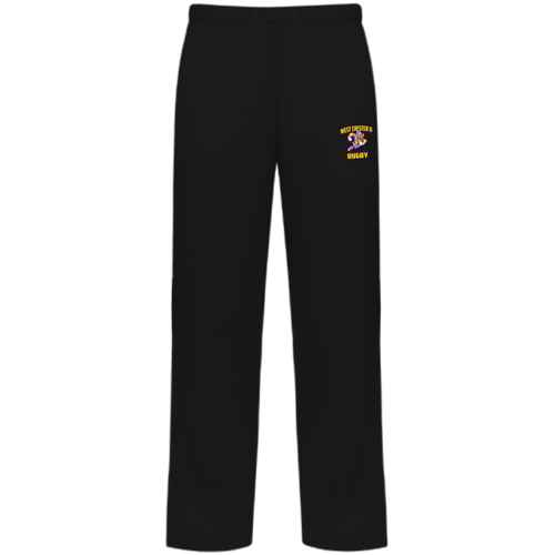 West Chester Rugby Performance Fleece Pants, Black
