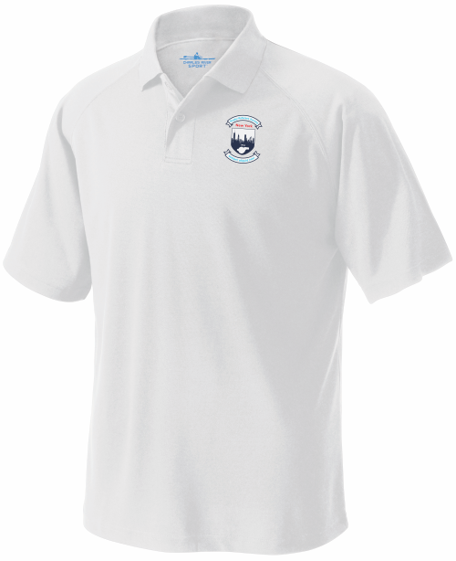 RRSNY Performance Polo, White