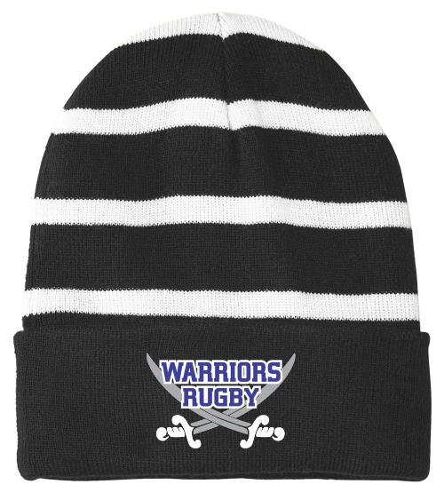 Warriors Fleece-Lined Stripe Beanie