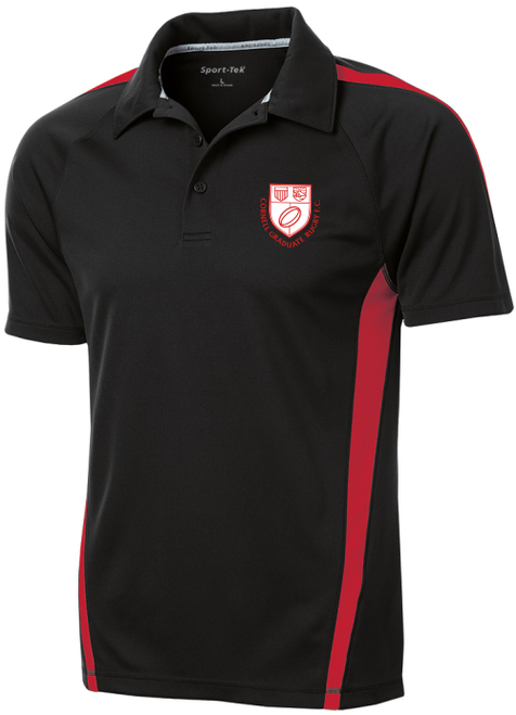 Cornell Graduate Rugby Performance Polo, Black/Red