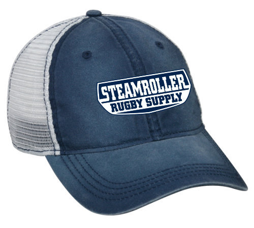 SRS Mesh-Back Adjustable Hat, Navy/ white