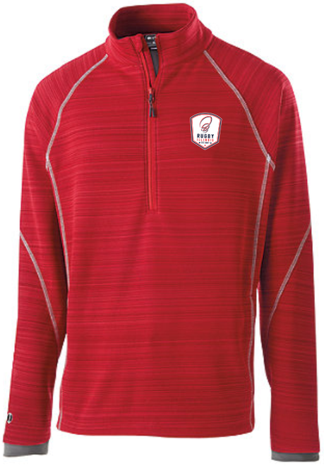 Rugby Illinios 1/2-Zip Pullover, Red