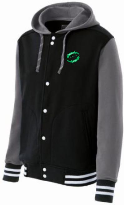 Juniata Hellbender Hooded Fleece Jacket, Black
