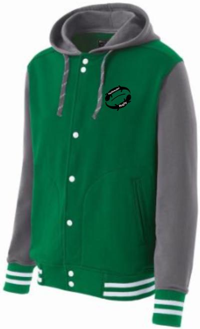 Juniata Hellbender Hooded Fleece Jacket, Kelly Green