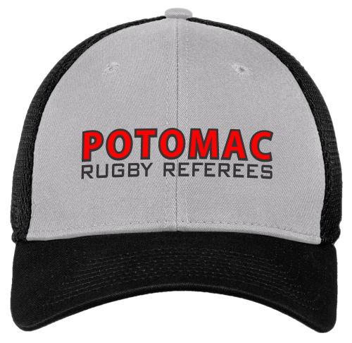Potomac Referees Stretch Mesh-Back Hat, Gray/Black
