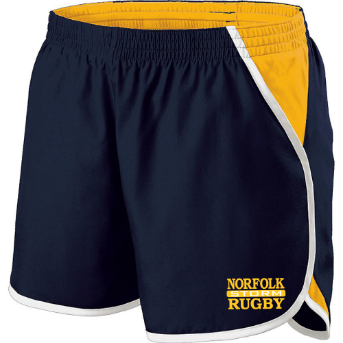 Norfolk Storm Ladies-Cut Gym Short, Navy/Gold/White
