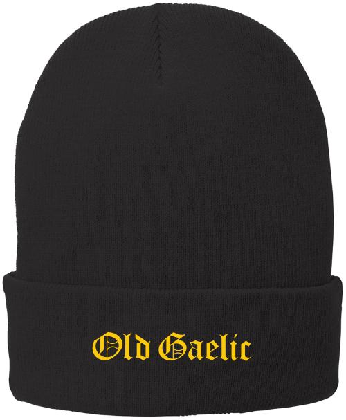 Old Gaelic Fleece-Lined Beanie, Black