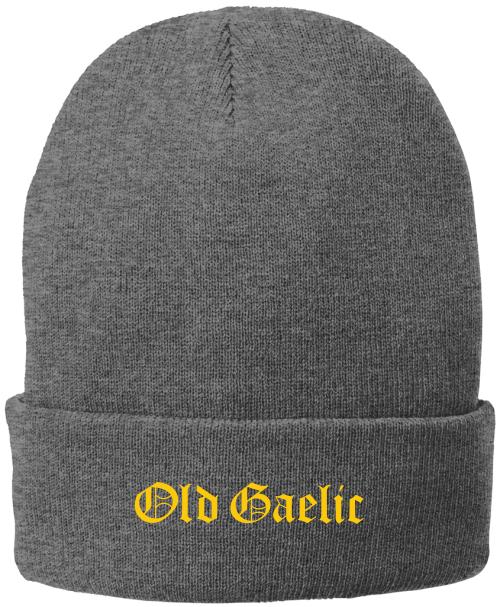Old Gaelic Fleece-Lined Beanie, Gray
