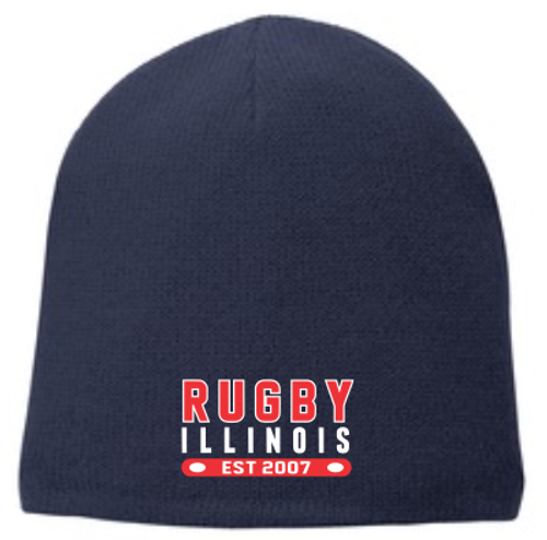 Rugby Illinois Fleece-Lined Beanie, Navy