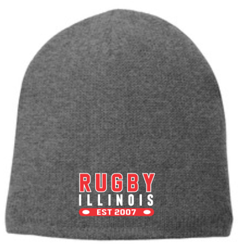 Rugby Illinois Fleece-Lined Beanie, Oxford Gray