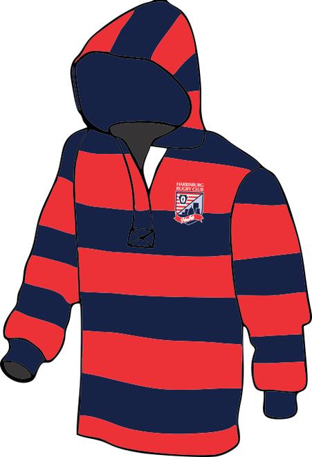 Harrisburg Harlots Custom Rugby Stripe Hoodie