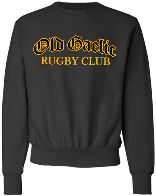 Old Gaelic Super Heavyweight Crewneck, Black