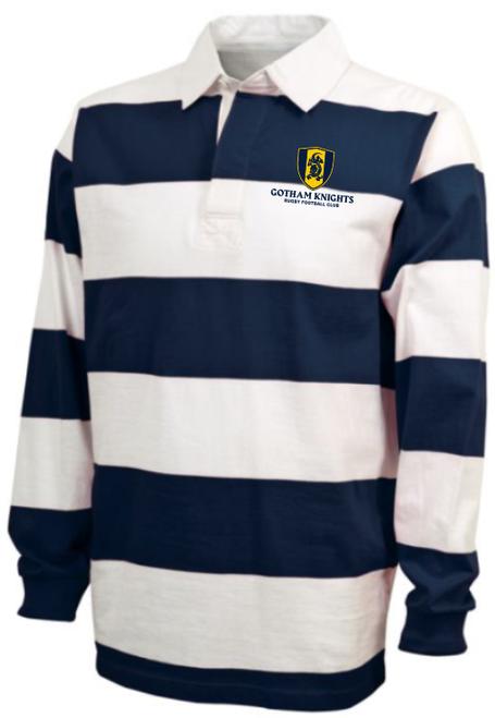 Gotham Knights  Rugby Stripe Polo