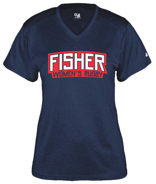 Fisher WRFC Performance Tee, Heather Navy