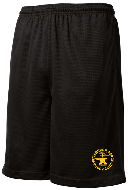 Forge Mesh Pocketed Gym Shorts