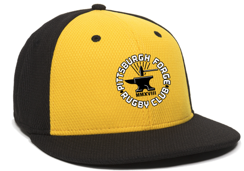 Forge Flat Bill Hat, Gold/Black