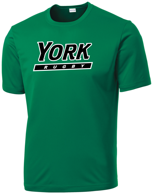YCP Rugby Performance Tee, Kelly Green