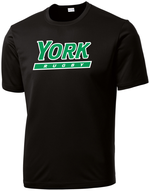 YCP Rugby Performance Tee, Black