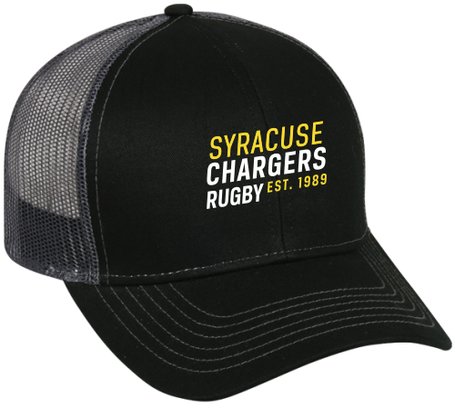 Syracuse Chargers Mesh-Back Hat, Black
