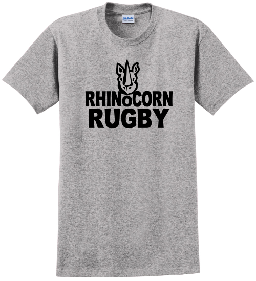 Chicago Rhinocorn Cotton Tee, Gray