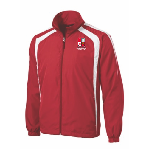 West Potomac Colorblock Jacket, Red/White