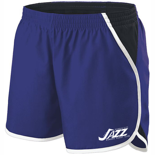 KC Jazz Ladies-Cut Gym Short, Purple