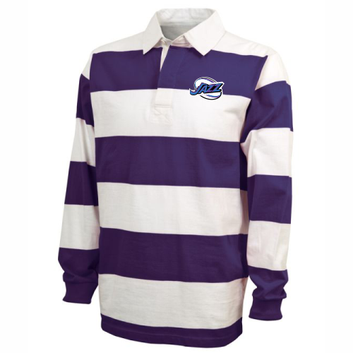 KC Jazz Rugby Stripe Polo, Purple