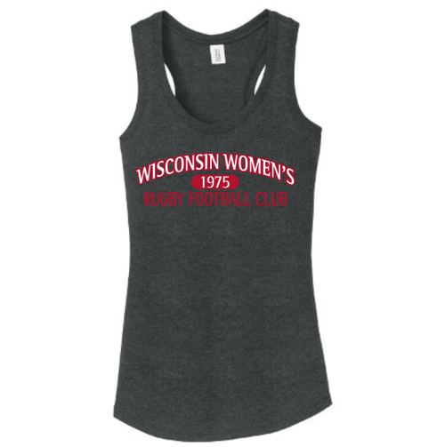 Wisconsin WRFC Ladies-Cut Racerback Tank, Black