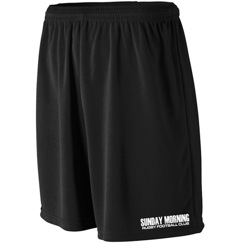 Sunday Morning Rugby Mesh Pocketed Gym Shorts