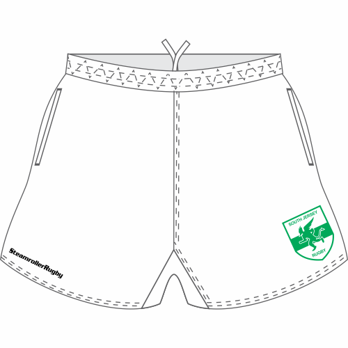 South Jersey Pocketed Performance Rugby Shorts, White
