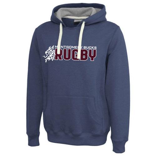 MB Rugby Throwback Hoodie, Navy