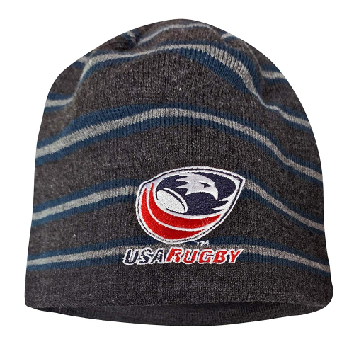 USA Rugby CCC Fleece-Lined Beanie, Gray