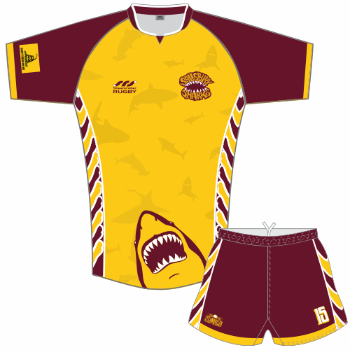 Jersey number will be added to the left thigh of the rugby shorts.