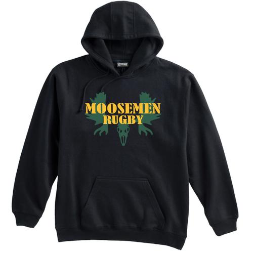 Moosemen Rugby Hoodie, Black