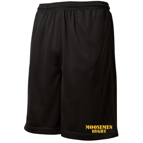 Moosemen Rugby Mesh Pocketed Gym Shorts