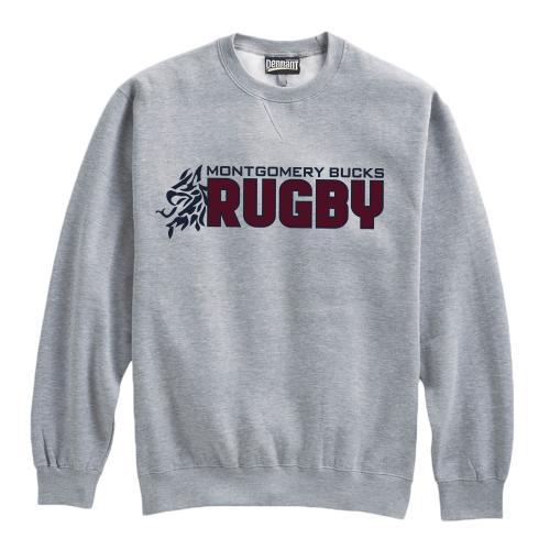 MB Rugby Crewneck Sweatshirt, Gray