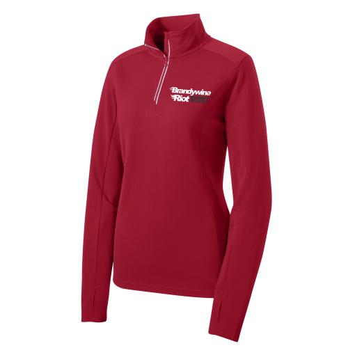 Brandywine Riot Textured 1/4-Zip Pullover, Red