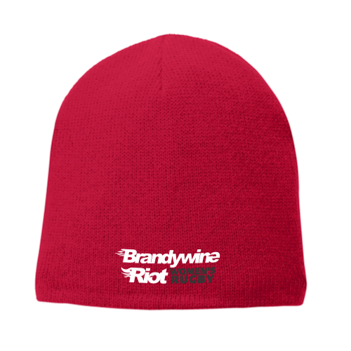 Brandywine Riot Fleece-Lined Beanie, Red
