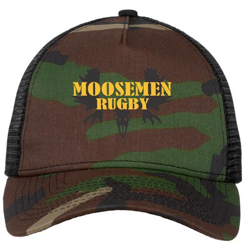 Moosemen Rugby Camo Snapback Mesh Hat