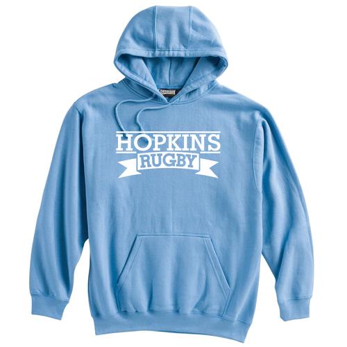 Hopkins Men's Rugby Hoodie, Light Blue