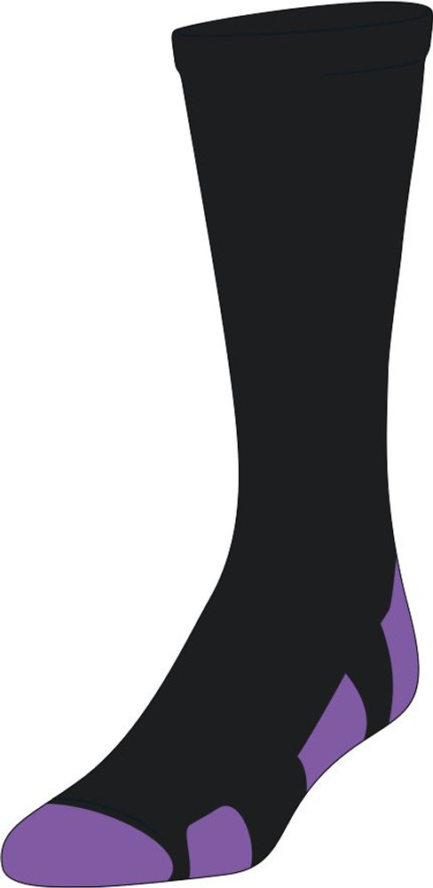 Front view of sock.