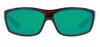 Costa Del Mar Saltbreak Wrap Polarized Sunglass Tortoise Black/Green Mirror 580P