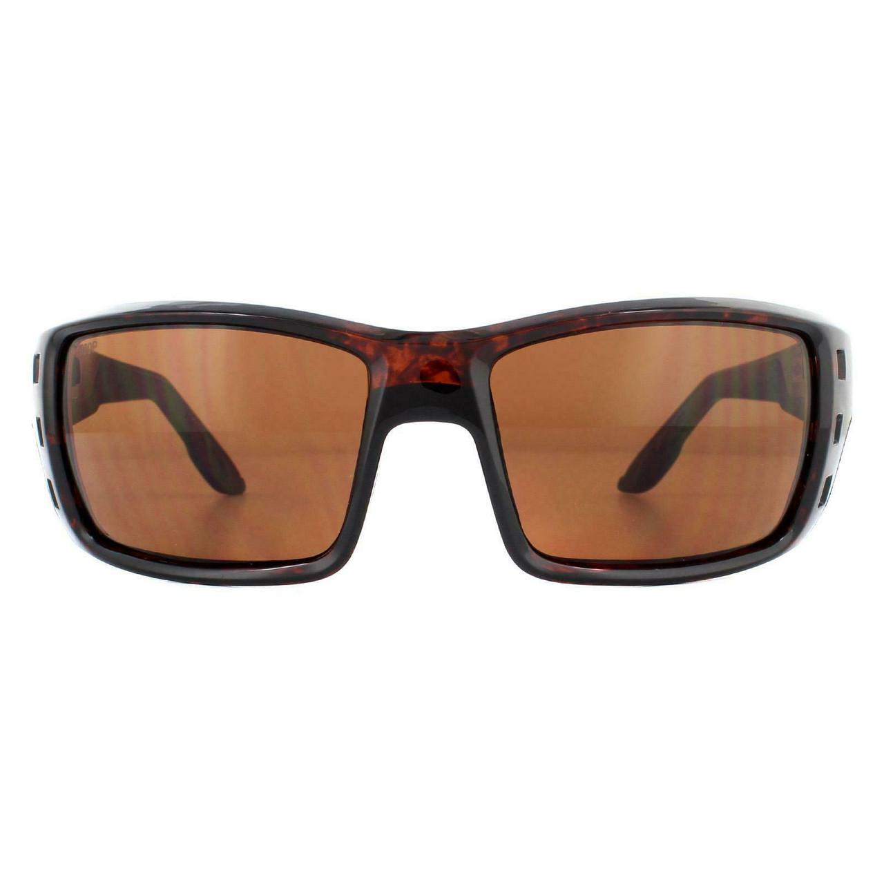 Costa Del Mar Permit Wrap Polarize Sunglasses Tortoise Brown Gold/Copper 580P 63mm