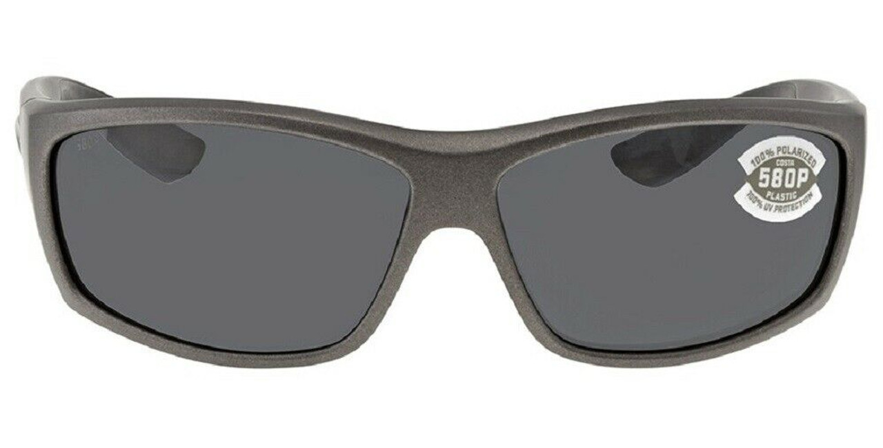 Costa Del Mar Saltbreak Wrap Polarize Sunglasses Matte Steel Gray/Grey 580P 65mm