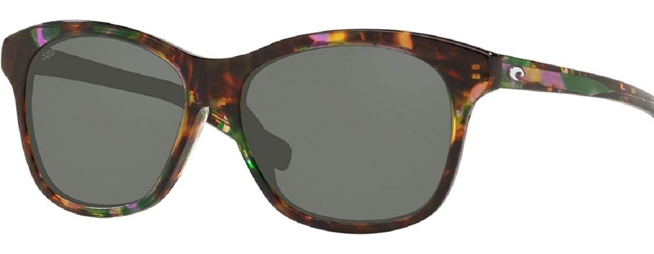 Costa Del Mar Sarasota CatEye Polarize Sunglass Abalone Tortoise/Grey 580G Glass