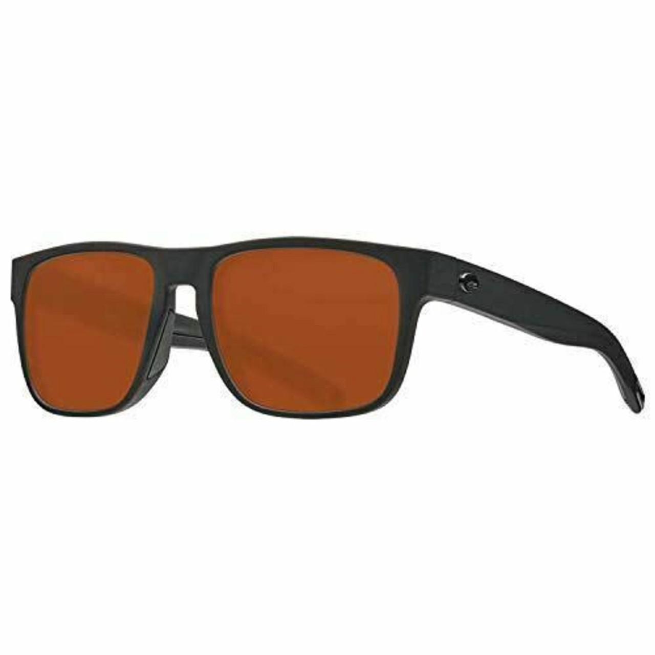 Costa Del Mar Spearo Polarize Sunglasses Classic Retro Blackout/Copper 580P 56mm