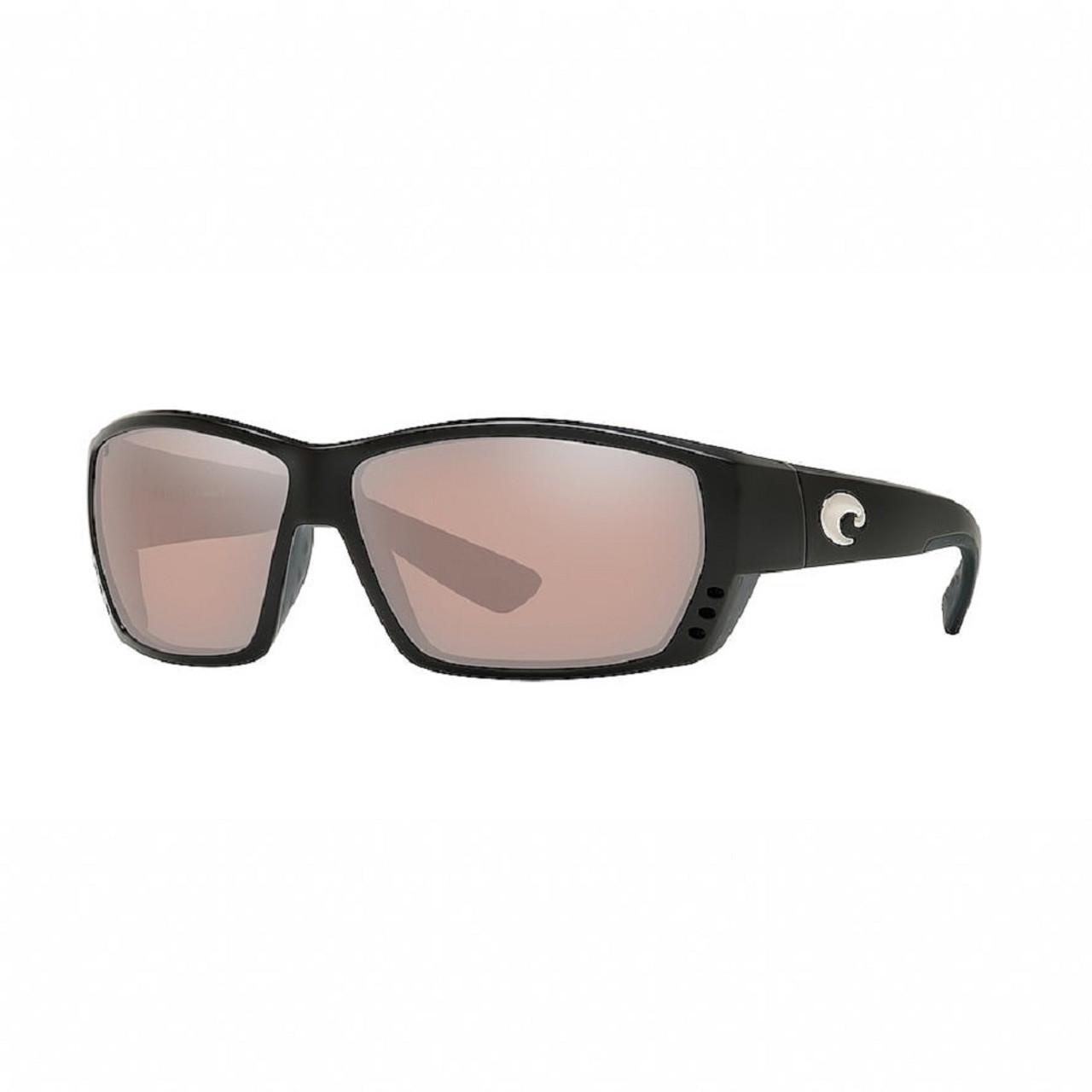 Costa Del Mar Tuna Alley Wrap Polarized Sunglass Black/Copper Silver Mirror 580P