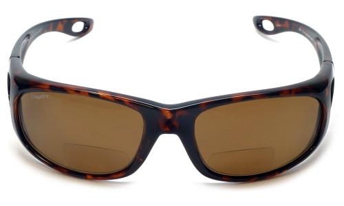 Coyote™ BP-17 Polarized Bi-focal Reading Sunglasses in Tortoise & Brown