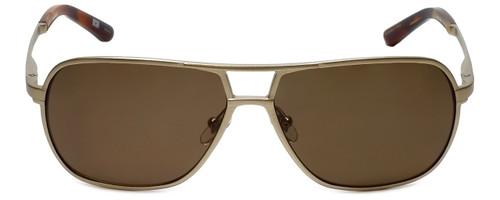 Argyleculture T-Bone Designer Polarized Sunglasses in Gold with Brown Lens