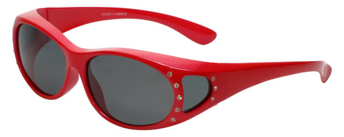 Calabria RS2866POL-A Polarized Fit-Over Sunglasses with Rhinestones Medium Size
